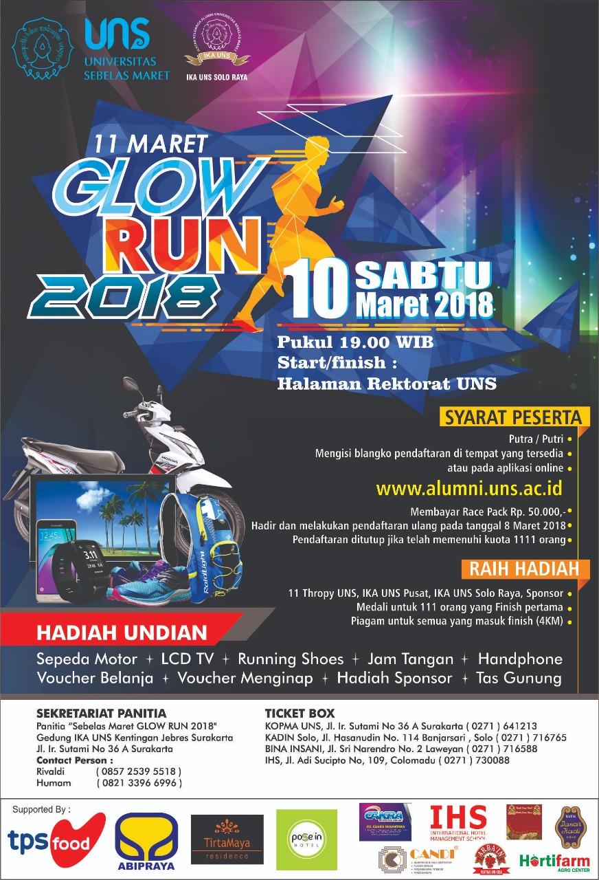 11 Maret Glow Run 2018